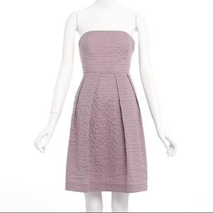 J. Crew Lilac Lorelei Embossed Deco Dot Dress 0